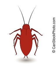 Cockroach Insect Vector Illustration