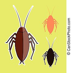 Cockroach Insects Vectors - Creepy Cockroach Insects Vectors...