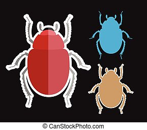 Scarab Beetle Insects Vectors