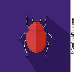 Wild Scarab Beetle Insect Vector Illustration
