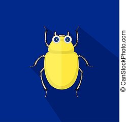 Funny Comic Beetle Insect Vector Illustration