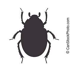 Scarab Beetle Insect Vector Silhouette