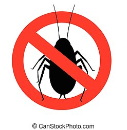 Remove Cockroaches Vector Sign Illustration