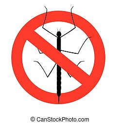 Kill Stick Insects Vector Sign