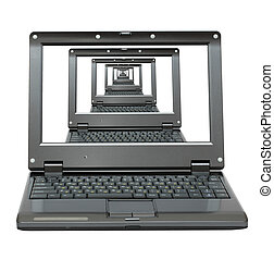 diminishing perspective of laptops - multitude laptops goes...