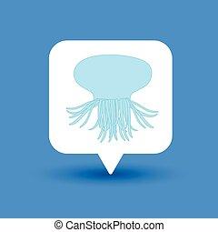 Jellyfish Shape - Jellyfish Animal Shape Vector Illustration