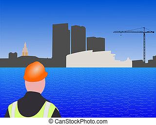 Miami, construção, local