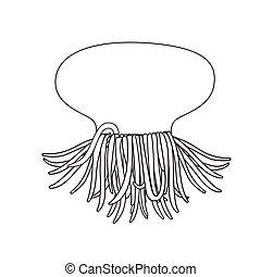 Jellyfish Drawing Vector Illustration