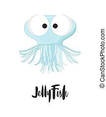 ENGRAÇADO, caricatura, medusa