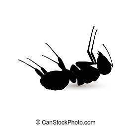 Dead Ant Vector Shape Design