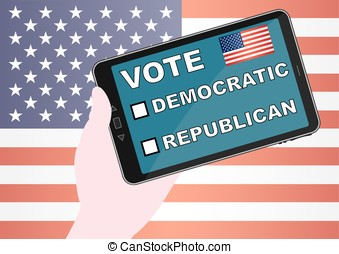American vote for republican and democratic parties