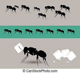 Diligent Ants Team Vector Illustration
