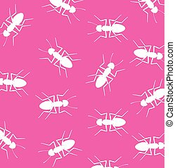 Wild Ants Pattern Background Vector Illustration