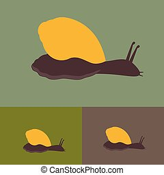 Snails Vector - Cartoon Snails Animal Vector Illustration