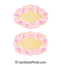 Frames flowers Wild roses vintage old paper vector copy.eps...