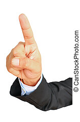 Businessman'hand showing gesture