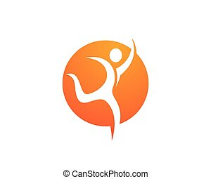 Health Logo Template - Fun people Healthy Life icon Logo...