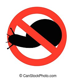 Snail Restriction - Snail Animal Restriction Vector...