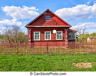 house in the village of Russia