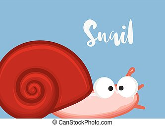 Funny Snail Character Vector Illustration