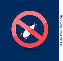 Remove Insect Sign Vector Illustration