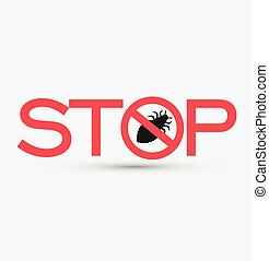 Stop and Kill Lice Insects Vector Illustration