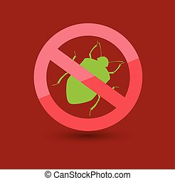 Remove Louse Insects Symbol Vector Illustration