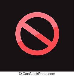 Forbid Symbol Vector Icon
