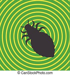 Lice Insect Shape Vector Illustration