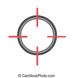 Crosshair Sign Vector Illustration
