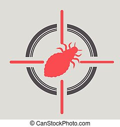 Lice on Target Vector Illustration