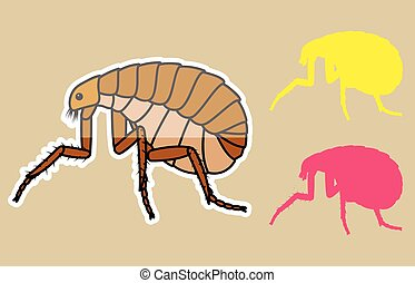 Comic Tick Insects Vector Illustration