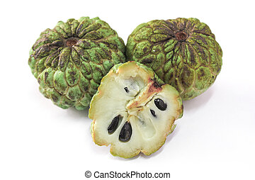Sugar apple, custard apple (Annona squamosa Linn)