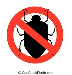 Remove Beetle Insects Symbol Vector Illustration