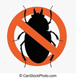 Remove Scarab Beetles Symbol Vector Illustration