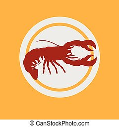 Chinese Lobster Food Vector Illustration