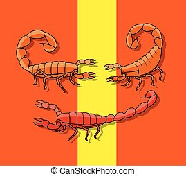 Poisonous Scorpions Insect Vector Illustration