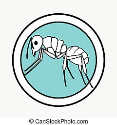 Ant Drawing Vector Illustration