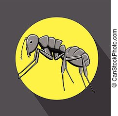 Black Ant Vector Illustration