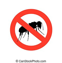 Ants Forbidden Symbol Vector Illustration