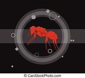 Red Ant Vector Illustration - Red Fire Ant Insect Vector...