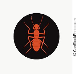 Tiny Red Ant Vector Illustration