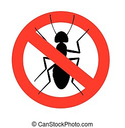 Remove Ants Symbol Vector Illustration