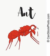 Cartoon Funny Ant Vector Illustration