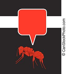 Ant with Speech Bubble Vector Illustration