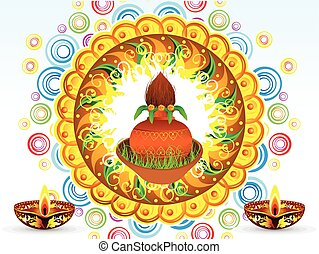 abstract artistic detailed navratra background vector...