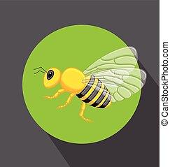 Hornet Vector - Cartoon Hornet Insect Vector