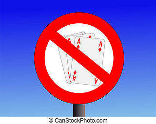 no gambling sign