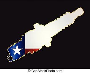 Texas Spark Plug Silhouettes