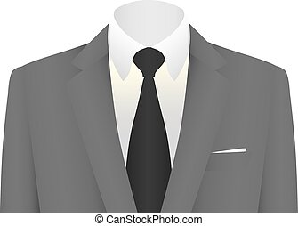 business suit vector - business suit in vector on white...